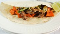 Spicy Thai Sweet Potato and Grilled Beef Wraps
