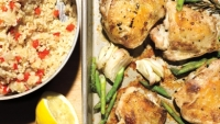 mj-390_294_crispy-roast-chicken-thighs-with-lemon-asparagus-and-brown-rice