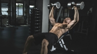 Use the low incline dumbbell press to activate more muscles and protect your shoulders.