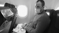 When you sneeze on a plane, the airflow spreads your germs to the neighbors next to, behind, and in front of you.