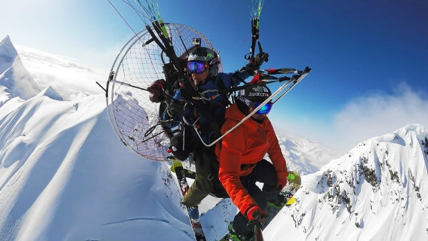 Watch Backcountry Skiers Drop Onto Mountains From a Powered