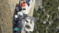 Kevin Jorgeson and Tommy Caldwell hang out on El Capitan's Dawn Wall.
