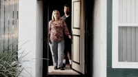 Debra and Chris Hall, in their El Cajon, California, home, a year after their brush with death in Mexico