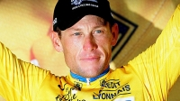 Lance Armstrong of the USA and The Discovery Channel Team retains his yellow jersey during stage 13 of the 92nd Tour de France between Miramas and Montpellier on July 15, 2005 in France.