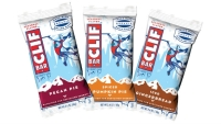 2014's holiday Clif Bar flavors: Pecan Pie, Spiced Pumpkin Pie, and Iced Gingerbread.