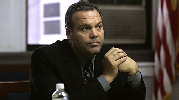 Vincent D'Onofrio on the set of Law and Order: Criminal Intent