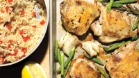 mj-618_348_crispy-roast-chicken-thighs-with-lemon-asparagus-and-brown-rice