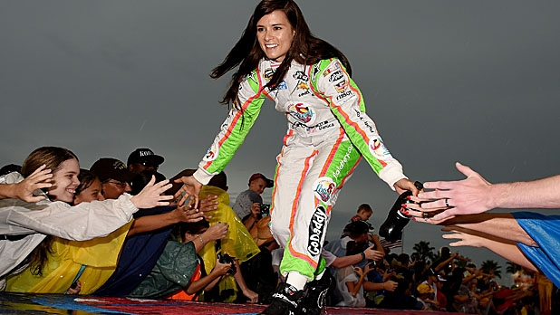 Patrick is introduced to fans before to the NASCAR Sprint Cup Series Coke Zero 400 at Daytona International Speedway on July 5, 2014 in Daytona Beach, Florida.