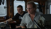 Sig Hansen, right, and Jake Anderson in the wheelhouse of the 'Northwestern.'