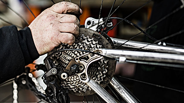Keeping a clean drivetrain on your bike ensures that parts will last longer.