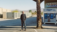"Don Winslow in the Anza-Borrego Desert — what he calls ""the big nowhere."""