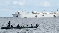 The USNS Mercy sits off the coast of the Philippines.