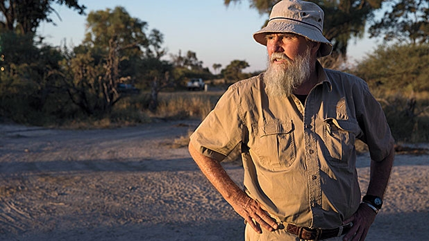 Map Ives, Botswana's national rhino coordinator, searches for black rhinos in the Okavango Delta.