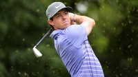 Rory McIlroy hits his tee shot on the second hole during the second round of The Barclays at Ridgewood Country Club on August 22, 2014 in Paramus, New Jersey.