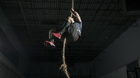 Learn to climb a rope for CrossFit or an obstacle course.