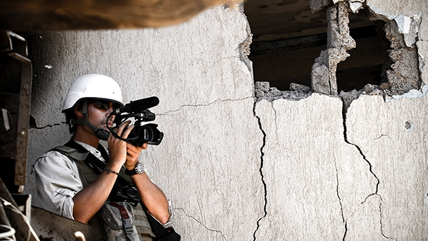 James Foley at work in Libya a year before his death.