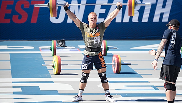 At the 2015 CrossFit Games, athletes tackled a snatch ladder: powering a barbell overhead with progressively heavier weights.