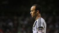 Landon Donovan of the Los Angeles Galaxy prepares for a cornerkick during the MLS match against Real Salt Lake at The Home Depot Center on October 6, 2012 in Carson, California.
