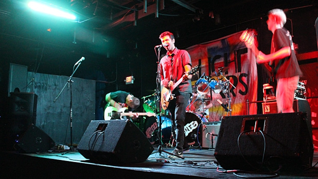 The band Taillight Years on stage at Cosmic Charlie's in Lexington, Kentucky.