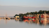 A view of the waterfront in Belfast, Maine.