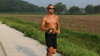 Barclay Oudersluys is following Forrest Gump's California to Maine running route.