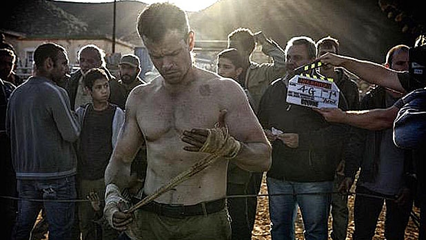 Follow the VersaClimber workout Matt Damon used to prepare for the latest Bourne movie.