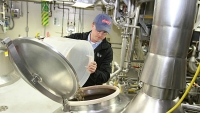 Anheuser-Busch's Roderick Read brews up to four batches a day, most of which will hit the drain.