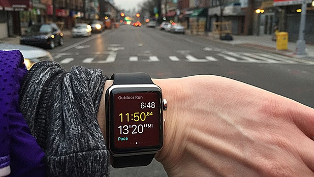 Marissa Stephenson, Men's Journal's senior Health & Fitness editor, spends eight days running, texting, lifting, and sleeping with the Apple Watch.