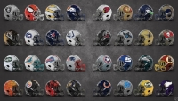 Graphic artist Justin Koziek redesigned every NFL helmet for a Marvel mascot.