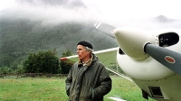 Doug Tompkins poses in Palena, Chile in 2000.