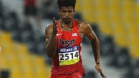 Richard Browne of the United States in action on his way to setting a new world record and winning the men's 100m at the IPC Athletics World Championships.