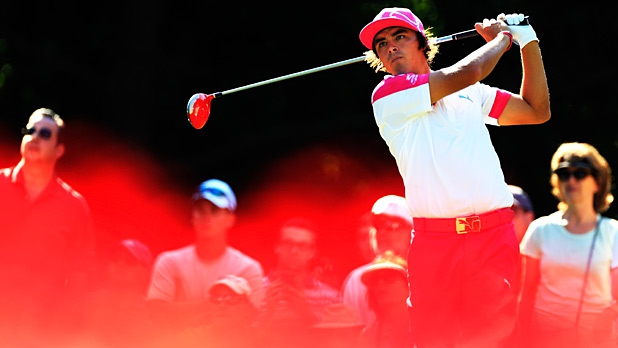 Fowler hits a tee shot during round one of THE PLAYERS Championship on May 9, 2013.