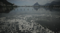 Rodrigo de Freitas Lake is one of the polluted sites that the Associated Press found unsafe levels of viruses.
