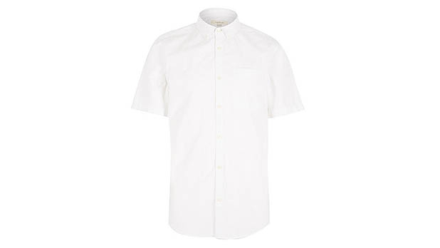 mj-618_348_river-island-white-twill-short-sleeve-shirt-short-sleeve-button-downs-for-an-active-summer