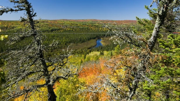 A private landowner closed a section of the Superior Hiking Trail on his property.