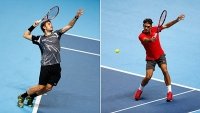 Roger Federer plays Stan Wawrinka on day seven of the Barclays ATP World Tour Finals.