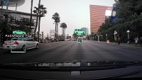 Nvidia's Drive PX processing video footage on the fly in a a car in Las Vegas.