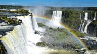 The view from the top of Iguazu Falls