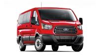 The 2015 Ford Transit can carry up to 15 passengers.