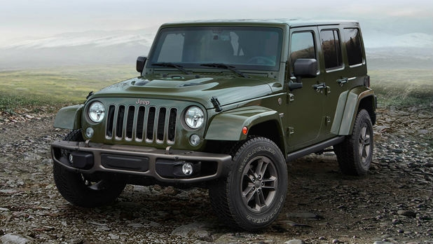 The Jeep Wrangler in its 75th Anniversary build.