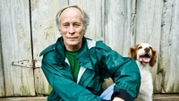 Richard Ford, with his dog Chloe, in Oxford, Mississippi