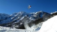 Shaun White of the United States practices during training for Snowboard Slopestyle at the Extreme Park at Rosa Khutor Mountain on February 3, 2014 in Sochi, Russia.