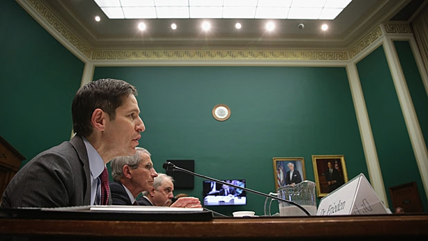 The Director of Centers for Disease Control and Prevention Dr. Thomas Frieden testifies during a hearing on Ebola before the Oversight and Investigations Subcommittee of House Energy and Commerce Committee.