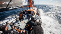 Team Alvimedica, the U.S. entry in the Volvo Ocean Race 2014-15, during the optional Round Britain & Ireland training race in August.