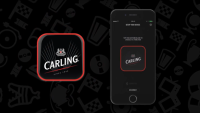 carling beer button