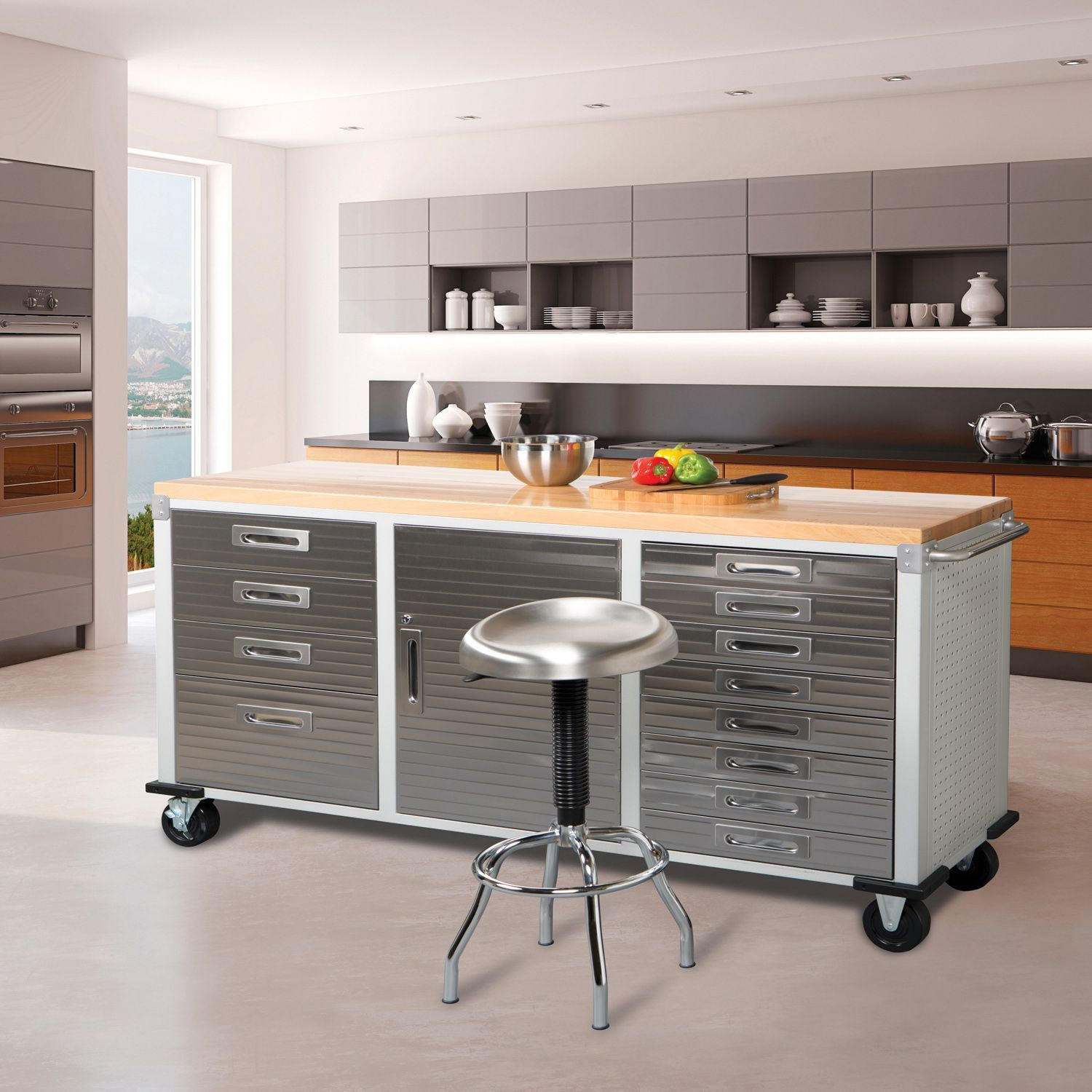 Industrial Cabinets Every Garage Or Kitchen Needs Men S