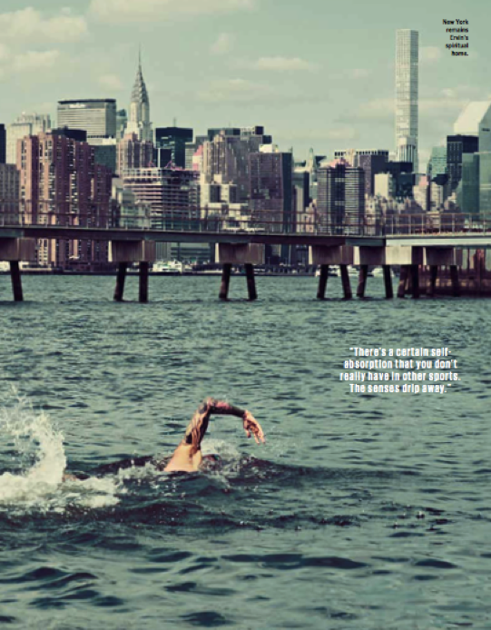 Anthony Ervin swimming in New York.